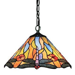Contemporary Tiffany lamp glass lamp shade 2 Dragonfly pattern Chandelier   Close To Ceiling Light Fixtures