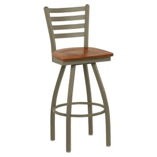 Regal Delano 30 in. Swivel Counter Stool with Wood Seat   Bar Stools