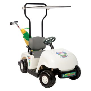 Kid Motorz Junior Pro Golf Cart Battery Powered Riding Toy   White   Battery Powered Riding Toys