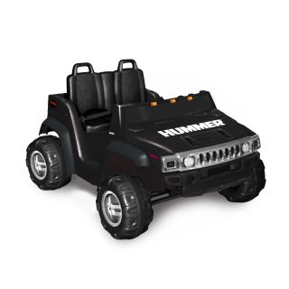 Kid Motorz Two Seater Hummer H2 Battery Powered Riding Toy   Black   Battery Powered Riding Toys