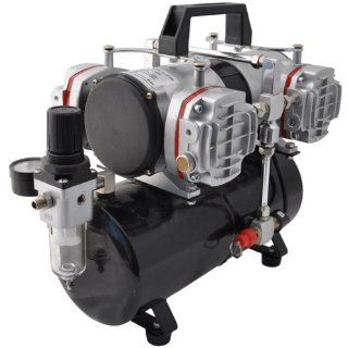Master Airbrush Model TC 848, High Performance Four Cylinder Piston Air Compressor with Tank and Free 6 Inch Airbrush Hose