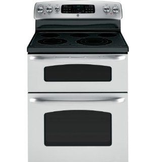 "GE JB850STSS 30"" Stainless Steel Electric Smoothtop Double Oven Range Appliances"