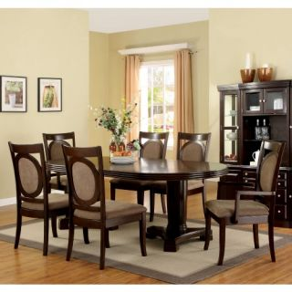 Furniture of America Julianne 7 Piece Dining Table Set   Dark Walnut   Dining Table Sets