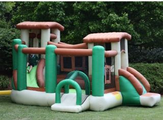 Kidwise Clubhouse Climber Bounce House   Bounce Houses
