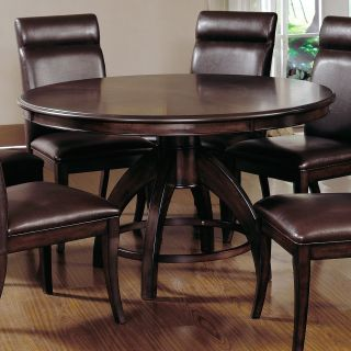 Nottingham Round Pedestal Dining Table Dark Walnut   Dining Tables