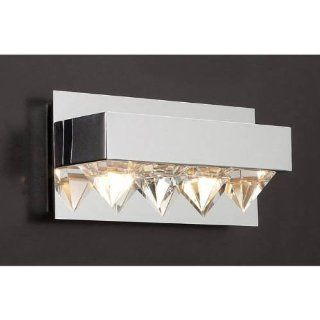 PLC Lighting 18162 PC Polished Chrome Crysto Contemporary / Modern Two Light Bathroom Vanity Light Fixture from the Crysto Collection PLC 18162   Track Lighting Kits