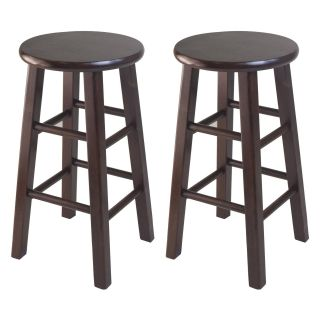 Winsome 24 Inch Square Leg Counter Stool   Set of 2   Bar Stools