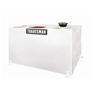 Tradesman 55 Gallon Steel Rectangular Storage Tank   White   Truck Tool Boxes