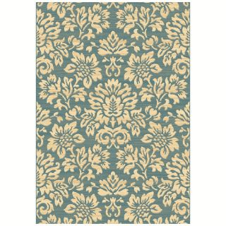 Dynamic Rugs Eclipse Floral 67013 Area Rug   Blue   Area Rugs