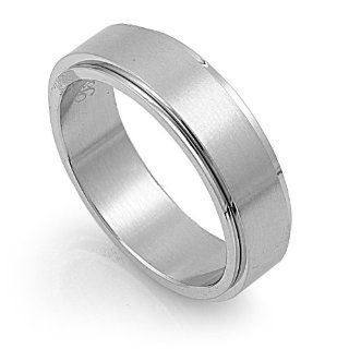 Stainless Steel High Polish Spinner Ring Size 6 Jewelry