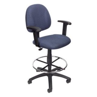 Boss B1616 Drafting Stool with Footring and Adjustable Arms   Drafting Chairs & Stools