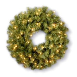 5 ft. Pre lit Clear Light Norwood Fir Christmas Wreath   Christmas Wreaths