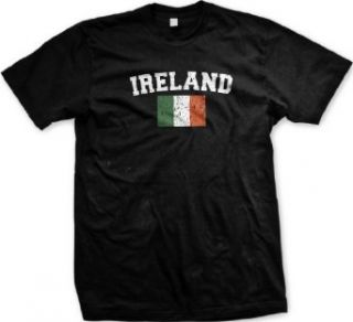 Ireland Flag International Soccer T shirt, Irish Soccer Mens T shirt Clothing