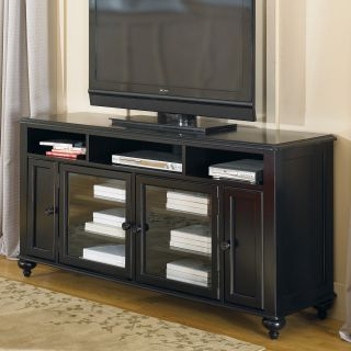 Hammary Mercer Black Painted Entertainment Console   TV Stands