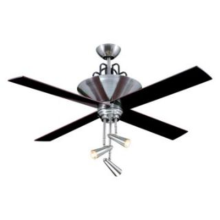 Ellington E GAL52BC4GR Galileo 52 in. Indoor Ceiling Fan   Brushed Chrome   Ceiling Fans