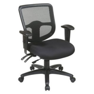 Office Star Ergonomic ProGrid Back Task Chair with Ratchet Back Height Adjustment and Dual Function Control   Desk Chairs