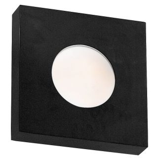 Kenroy Home Burst Square Wall Sconce/Flush Mount 8 in. Black   Outdoor Wall Lights