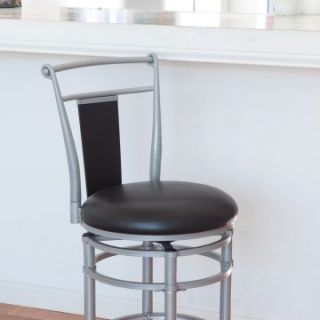 Hillsdale Midtown 26 in. Silver Swivel Counter Stool   Bar Stools