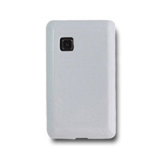 SOGA(TM) White TPU Rubber Skin Cover Case For Tracfone, Straight Talk, Net 10 LG 840G LG840G [SWF41] Cell Phones & Accessories