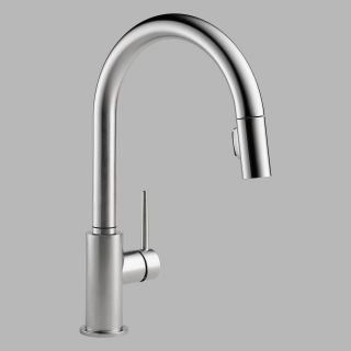 Delta Trinsic 9159 DST Single Handle Pull Down Kitchen Faucet   Kitchen Faucets