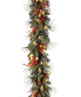6 ft. Holiday Decorated Pre lit Garland   Swags & Garland