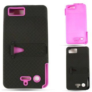 Motorola Droid X2 MB870 Jelly Purple Skin Black Snap Case Cover Protector Hard Cell Phones & Accessories