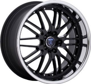 "Rohana RL06 18""x8 18""X9 BMW 3 Series Staggered Wheels Rims Black Chrome 4pc 1set Automotive"