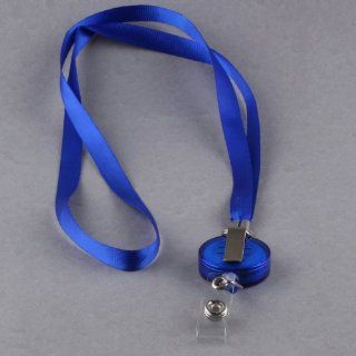 Ostart Blue Retractable Lanyard Reel Nylon Cord for ID Card Key Badge Holder  Coach And Referee Whistles  Sports & Outdoors
