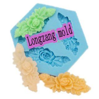 Longzang mini flowers F0017 Fondant Mold Silicone Sugar mini mold Craft Molds DIY Cake Decorating Food Sculpting Tools Kitchen & Dining