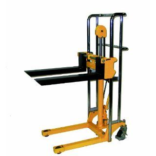 "Wesco 272941 Value Lift with Handle, Polyurethane Wheels, 880 lbs Load Capacity, 59"" Lift Height, 25 1/2"" Length x 4 1/2"" Width Material Lifts"