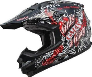 G Max GM76X Conviction Helmet , Distinct Name Gloss Black/Red, Gender Mens/Unisex, Helmet Category Offroad, Helmet Type Offroad Helmets, Primary Color Black, Size 2XL G3765208 TC 1 Automotive