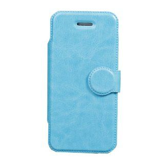 Mooncolour Crazy Horse line Two Parts Faux Leather Slim Folio Stand Skin Wallet Case Cover for Apple Iphone 5c (Light Blue) Cell Phones & Accessories