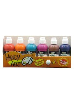 Handy Art by Rock Paint 882 043 2 Ounce Tempera Paint Markers, 6 Color Kit