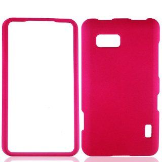 Hot Pink Hard Cover Case for LG Mach LS860 Cell Phones & Accessories