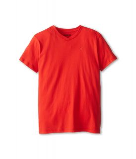 Hurley Kids Icon Premium Heather Tee Boys Short Sleeve Pullover (Red)