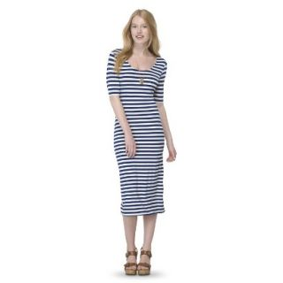 Mossimo Supply Co. Juniors Printed Midi Dress   Nightfall Blue M(7 9)