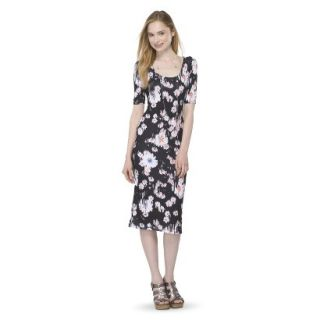 Mossimo Supply Co. Juniors Printed Midi Dress   Broken Floral XS(1)