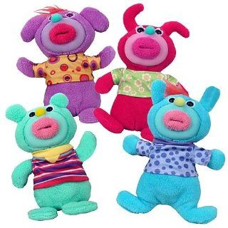 Sing a Ma Jigs Series 2 Set of 4 Hot Pink, Mint Green, Light Blue, Purple Toys & Games