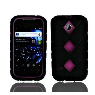 For Cricket Huawei Ascent Ii M865 Accessory   Fusion Series Black Hard Case with Pink Silicone Case+ Lf Stylus Pen Cell Phones & Accessories