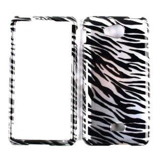 For Lg Spirit Ms 870 Transparent Black White Zebra Case Accessories Cell Phones & Accessories