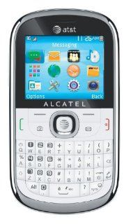 Alcatel One Touch 871a OT 871a Unlocked GSM QWERTY Cell Phone   White (with Blue Border) Cell Phones & Accessories