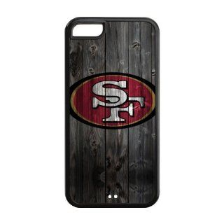 iPhone 5C Case   Wood Look NFL San Francisco 49ers Apple iPhone 5C (Cheap IPhone5) Perfect Design TPU Case Cover Protector Cell Phones & Accessories