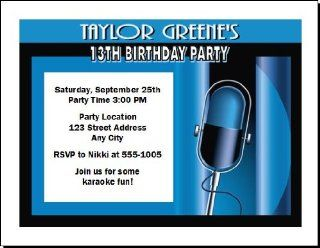 Music Performer Birthday Party Invitations Toys & Games