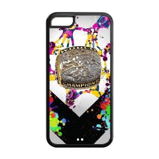 NFL Denver Broncos World Champions Ring Bling Bling Unique Hard Plastic Case Cover for Apple Iphone 5c Custom Design Cell Phones & Accessories