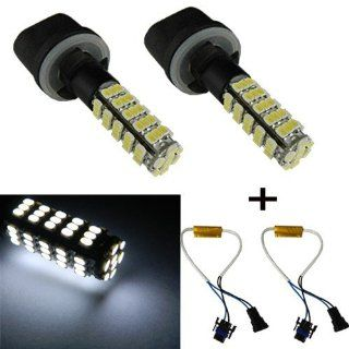 Orion Technology 6000K Xenon White 880 68 SMD LED Bulbs For Car Packing City Driving Fog Lights + Load Resistors Automotive