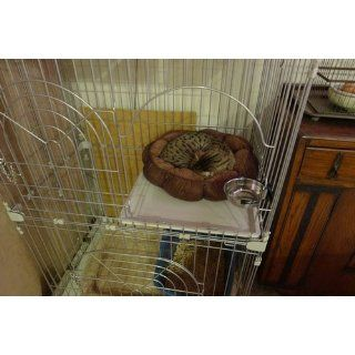 IRIS 2 Tier Wire Cat Cage, White  Cat Houses And Condos
