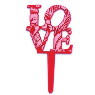 Dress My Cupcake DMC41V 904SET Love Sign Pick Decorative Cake Topper, Valentines, Pink/Red, Case of 144 Kitchen & Dining