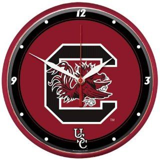NCAA South Carolina Gamecocks Round Wall Clock   Sports Fan Wall Clocks