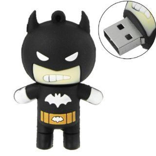 16GB USB Flash Drive Cool Batman Shape 16G Memory Stick U Disk   Black Computers & Accessories