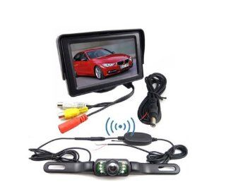 BW� 4.3 inch TFT LCD Car Monitor Wireless Rear View IR Night Waterproof Parking Backup Camera System  Installation Services